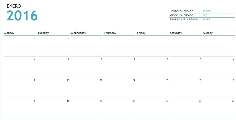 Cree un calendario 2016 en Excel (incluye plantilla gratis)