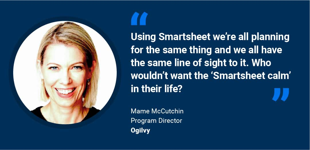 A customer quote from Mame McCutchin
