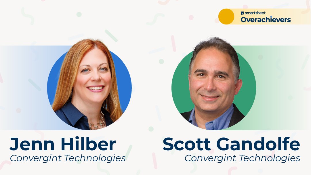 Headshot of Jenn Hilber and Scott Gandolfe from Convergint Technologies