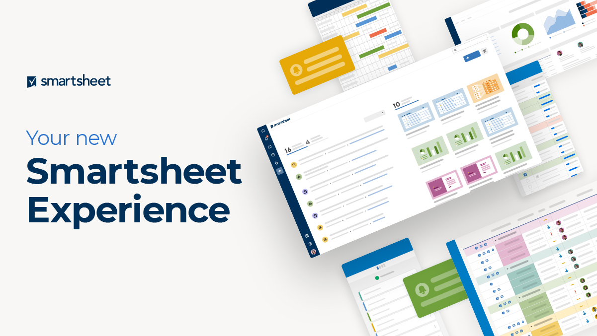 Smartsheet product screens with the new user interface
