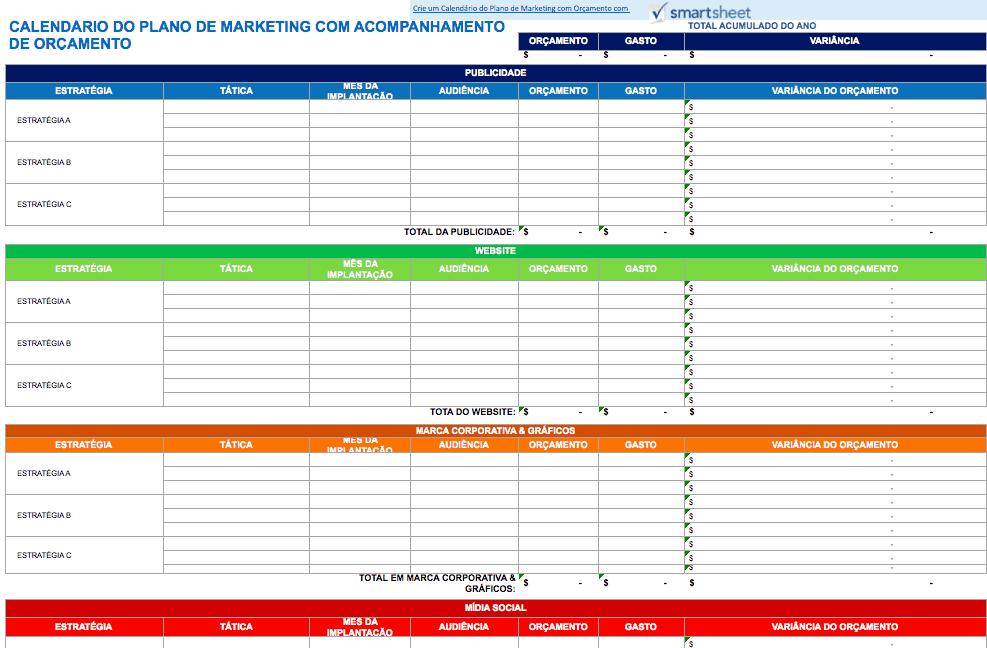 Calendario 2020 Portugal Excel.9 Modelos De Calendario De Marketing Para Excel Gratuitos