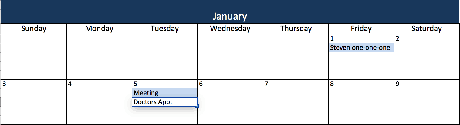 Modelos De Calendário Excel Gratuitos Para Impressão De 2019